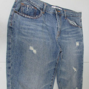 Piper & Blue 9 Juniors Cropped Distressed Jeans